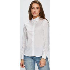 Trussardi Jeans - Koszula. Szare koszule damskie TRUSSARDI JEANS, z bawełny, casualowe, z klasycznym kołnierzykiem, z długim rękawem. Za 319.90 zł.
