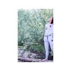 Bluza Simple Gray Flamingo. Szare bluzy damskie Zookiwear, w kolorowe wzory. Za 209.00 zł.