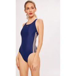 Adidas Performance - Strój kąpielowy. Szare kostiumy jednoczęściowe damskie adidas Performance. W wyprzedaży za 149.90 zł.