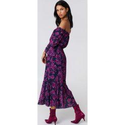 9ccbc83343 Sukienki damskie marki NA- NA-KD Boho Sukienka z odkrytymi ramionami -  Multicolor. Sukienki damskie marki NA-