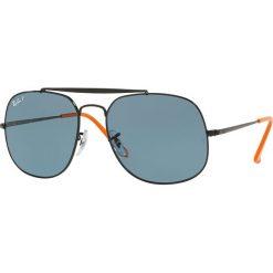 Ray-Ban - Okulary. Brązowe okulary przeciwsłoneczne męskie Ray-Ban, z materiału. Za 739.90 zł.