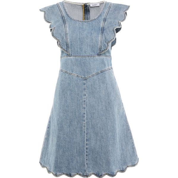 6791b4c830 MAX Co. DETTO Sukienka jeansowa blue - Sukienki damskie marki MAX Co ...