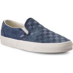 Tenisówki VANS - Classic Slip-On VN0A38F7QCH (Checker Emboss) Vintage. Niebieskie trampki męskie Vans, z gumy. W wyprzedaży za 229.00 zł.
