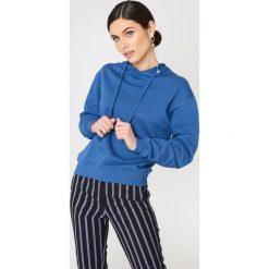 NA-KD Basic Bluza z kapturem basic - Blue. Niebieskie bluzy damskie NA-KD Basic. Za 100.95 zł.