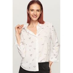 Koszula o klasycznym fasonie - Wielobarwn. Szare koszule damskie Reserved, klasyczne, z klasycznym kołnierzykiem. Za 59.99 zł.