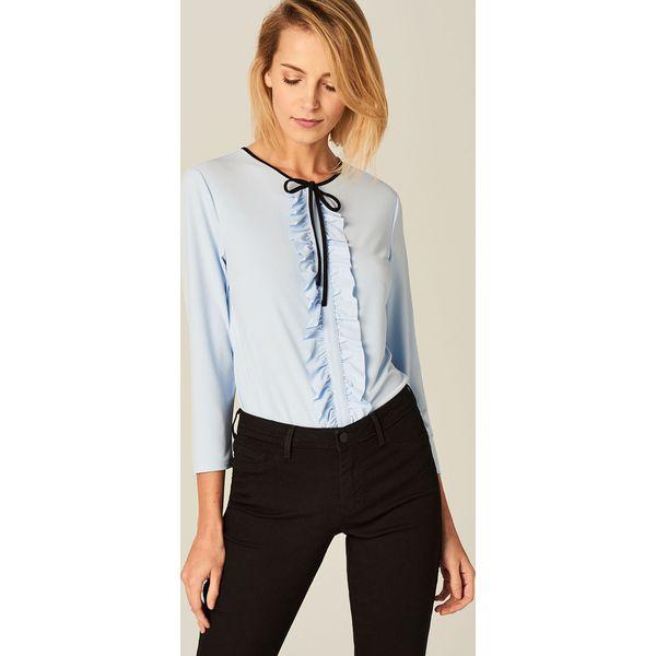 564ed7058eb47f Elegancka bluzka z żabotem - Niebieski - Bluzki damskie Mohito ...