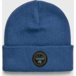 Napapijri - Czapka. Niebieskie czapki i kapelusze męskie Napapijri. W wyprzedaży za 149.90 zł.