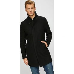 Premium by Jack&Jones - Płaszcz. Czarne płaszcze męskie Premium by Jack&Jones, z materiału. W wyprzedaży za 579.90 zł.