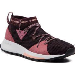 Buty adidas - Quesa BB7343 Ngtred/Tramar/Cleora. Czerwone obuwie sportowe damskie Adidas, z materiału. W wyprzedaży za 239.00 zł.