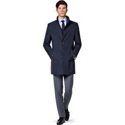 Płaszcz Granatowy Massimiliano. Niebieskie płaszcze męskie LANCERTO, na wiosnę, z jeansu, biznesowe. W wyprzedaży za 559.90 zł.