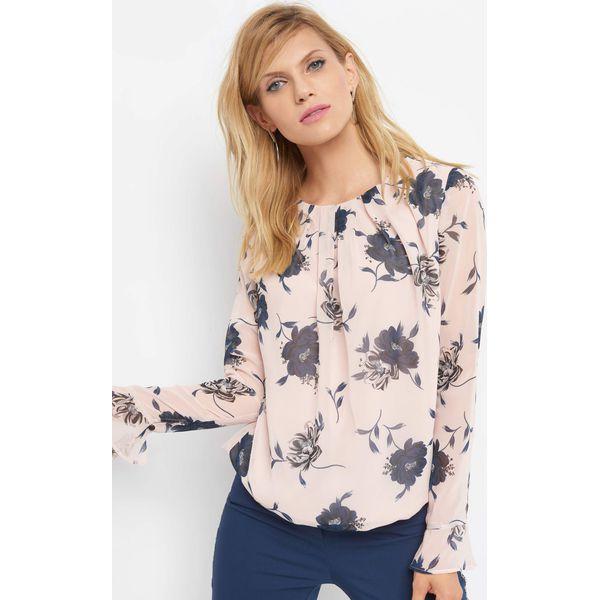 bfeb19121e0b7c Bombkowa bluzka w kwiaty - Brązowe bluzki damskie Orsay, w kwiaty, z  poliesteru, eleganckie, z dekoltem na plecach. Za 89.99 zł. - Bluzki  damskie - Bluzki i ...