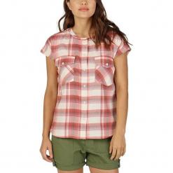 """Bluzka """"Darcie"""" w kolorze kremowo-czerwonym. Białe bluzki damskie Burton, w kratkę, ze stójką. W wyprzedaży za 78.95 zł."""