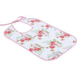 Little Dutch - Śliniak - White With Pink Roses. Białe śliniaki dla dzieci Little Dutch, z bawełny. W wyprzedaży za 21.00 zł.