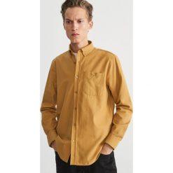 Koszula regular fit - Żółty. Żółte koszule męskie Reserved. Za 159.99 zł.