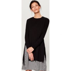 Sukienka z długimi rękawami - Czarny. Czarne sukienki damskie Mohito, z długim rękawem. Za 169.99 zł.