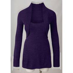 Sweter z bolerkiem 2 w 1 bonprix lila. Swetry damskie marki bonprix. Za 79.99 zł.