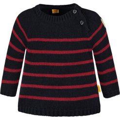 Sweter w kolorze granatowo-czerwonym. Swetry dla chłopców marki Reserved. W wyprzedaży za 147.95 zł.