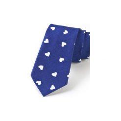 Krawat męski SERCA. Niebieskie krawaty i muchy Hisoutfit, z materiału. Za 129.00 zł.