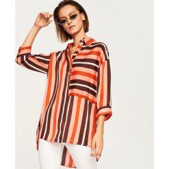 Koszula w paski - Wielobarwn. Szare koszule damskie Reserved, w paski. W wyprzedaży za 69.99 zł.