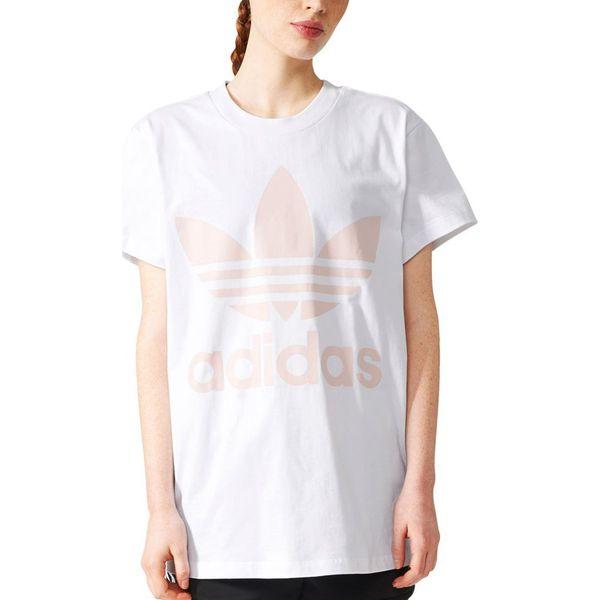 najlepsza cena rozmiar 40 uważaj na Adidas Koszulka damska BIG TREFOIL TEE biała r. 40 (BR9825)