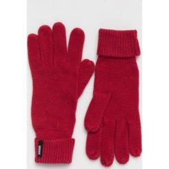 Answear - Rękawiczki. Czerwone rękawiczki damskie ANSWEAR, z dzianiny. Za 39.90 zł.