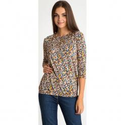 Bluzka z florystycznym printem QUIOSQUE. Szare bluzki damskie QUIOSQUE, z wiskozy. W wyprzedaży za 79.99 zł.