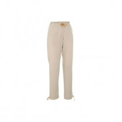 Spodnie turystyczne NH100 damskie. Brązowe spodnie materiałowe damskie QUECHUA, z materiału. Za 39.99 zł.