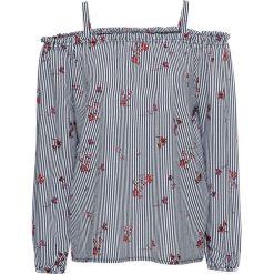 Bluzka z nadrukiem bonprix biel wełny - ciemnoniebieski w paski. Bluzki damskie marki Colour Pleasure. Za 49.99 zł.