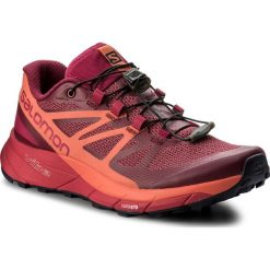 Buty SALOMON - Sense Ride W 398486 Sangria/Living Coral/Virtual Pink. Czerwone obuwie sportowe damskie Salomon, z materiału. W wyprzedaży za 389.00 zł.