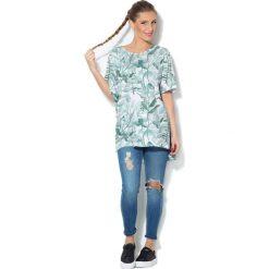 Colour Pleasure Koszulka damska CP-033 278 biało-miętowa r. uniwersalny. T-shirty damskie Colour Pleasure. Za 76.57 zł.