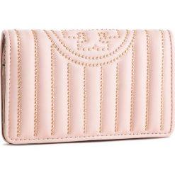 Duży Portfel Damski TORY BURCH - Fleming Mini Stud Slim Medium Wallet 52409 Shell Pink 652. Czerwone portfele damskie Tory Burch, ze skóry. Za 1,099.00 zł.