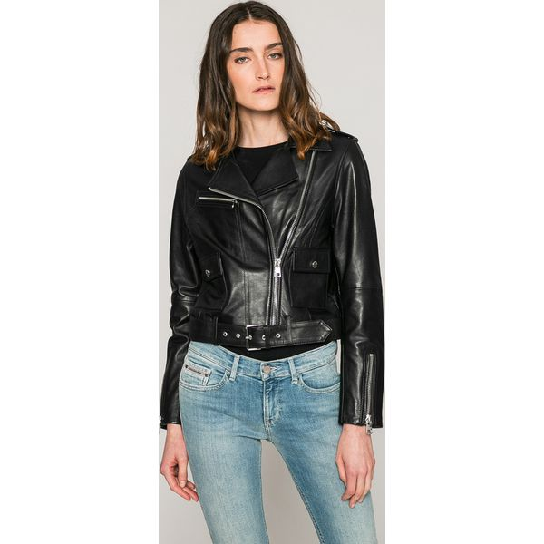 ba3d4646b1b4d Calvin Klein Jeans - Kurtka skórzana - Kurtki damskie marki Calvin ...