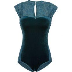 Body aksamitne Premium bonprix niebieskozielony. Body damskie marki bonprix. Za 129.99 zł.