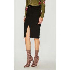 Guess Jeans - Spódnica. Szare spódnice damskie Guess Jeans, z aplikacjami, z bawełny. Za 319.90 zł.