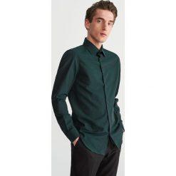 Bawełniana koszula slim fit - Turkusowy. Niebieskie koszule męskie Reserved, z bawełny. Za 119.99 zł.