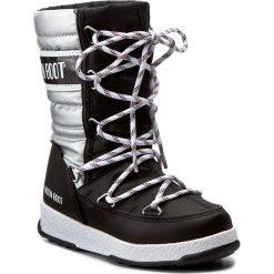 Śniegowce MOON BOOT - We Quilted Jr Met Wp 34051400002 Nero-Argento. Śniegowce dziewczęce Moon Boot, z materiału. W wyprzedaży za 279.00 zł.