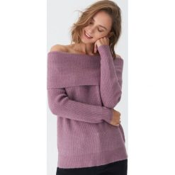 Sweter z odkrytymi ramionami - Fioletowy. Fioletowe swetry damskie House. Za 79.99 zł.