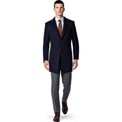 Płaszcz Granatowy Regent. Niebieskie płaszcze męskie LANCERTO, na jesień, z bawełny, eleganckie. Za 799.90 zł.