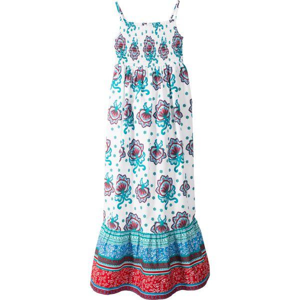 df5c218f Letnia sukienka bonprix biały z nadrukiem