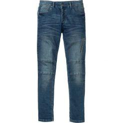 """Dżinsy dresowe Skinny Fit Straight bonprix Niebieski """"stone"""" Used. Niebieskie jeansy męskie bonprix. Za 139.99 zł."""