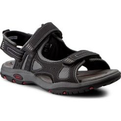 Sandały CANGURO - W004-906 Nero. Czarne sandały męskie Canguro, z materiału. W wyprzedaży za 139.00 zł.