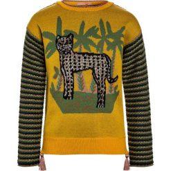 Scotch R'Belle INTARSIA PULL WITH CHEST ARTWORK TASSLES Sweter yellow. Swetry dla dziewczynek Scotch R'Belle, z bawełny. Za 379.00 zł.