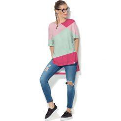 Colour Pleasure Koszulka CP-033  3 różowo-malinowo-miętowa r. uniwersalny. T-shirty damskie Colour Pleasure. Za 76.57 zł.