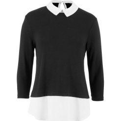 Sweter z zaokrąglonym kołnierzykiem, z kolekcji Maite Kelly bonprix czarno-biały. Swetry damskie marki KALENJI. Za 99.99 zł.