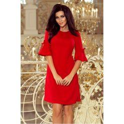 Trapezowa sukienka sf-217. Czerwone sukienki damskie SaF. Za 129.00 zł.
