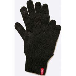 Levi's - Rękawiczki. Brązowe rękawiczki damskie Levi's, z bawełny. Za 89.90 zł.