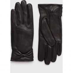 Pieces - Rękawiczki skórzane Kasle. Czerwone rękawiczki damskie Pieces, z materiału. W wyprzedaży za 129.90 zł.