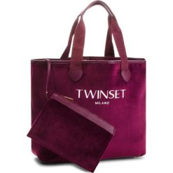 Torebka TWINSET - Shopping AA8PF2  Bordeaux 00020. Czerwone torebki do ręki damskie Twinset, z materiału. Za 439.00 zł.