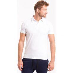 Koszulka polo męska TSM050Z - biały. Koszulki polo męskie marki Giacomo Conti. W wyprzedaży za 49.99 zł.