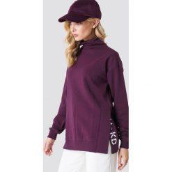 NA-KD Bluza z rozcięciami - Purple. Fioletowe bluzy damskie NA-KD, z haftami. Za 161.95 zł.